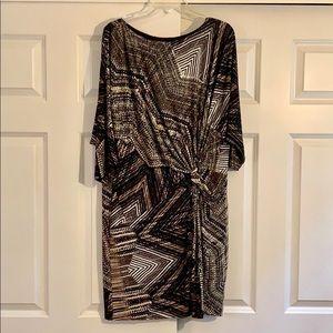 Stretch pattern dress - size 12